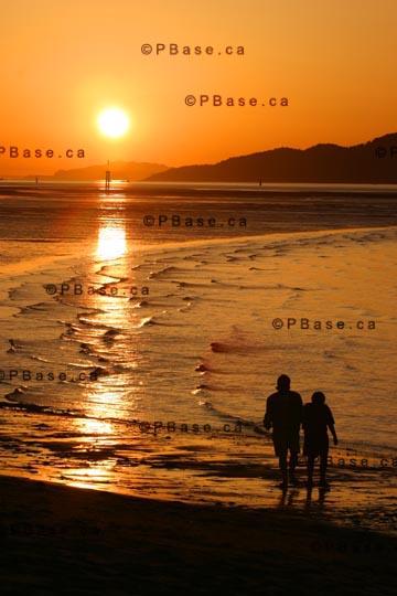 sunset on beach. Sunset, Jericho Beach